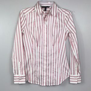 WHBM Pink & Rose Gold Fitted Blouse